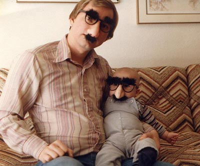 Dad and Daniel in their 'Groucho gear'